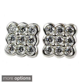 Sonia Bitton Sterling Silver Cubic Zirconia Stud Earrings (2 options available)