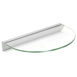 Essentials 12-inch Half Round Clear Glass Shelf Kit