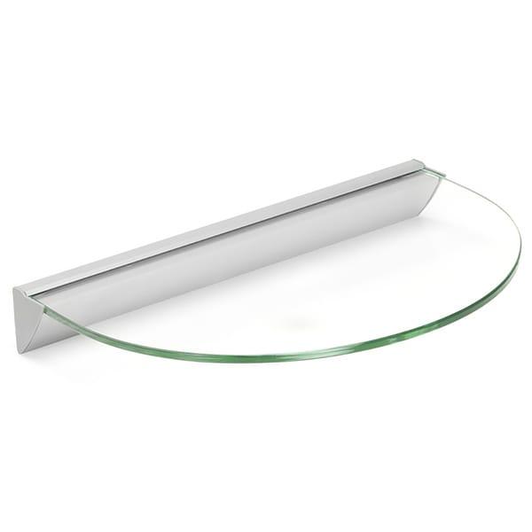Essentials 12-inch Half Round Clear Glass Shelf Kit