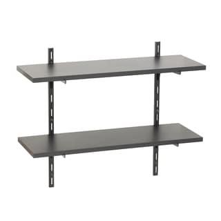 Wallscapes Black 8x24 2-shelf Kit