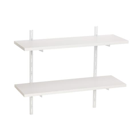 Wallscapes White 8x24 2-shelf Kit