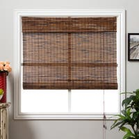 Arlo Blinds Corded Java Vintage Bamboo Roman Shade with 74 Inch Height