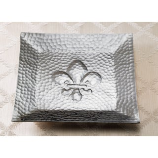 Hammered Square Fleur-dis-lis Tray