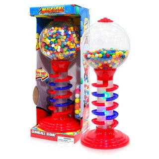Sweet N Fun Red Plastic 21-inch Light and Sound Spiral Gumball Bank