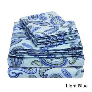 Superior Paisley Cotton Deep Pocket Flannel Deep Pocket Sheet Set
