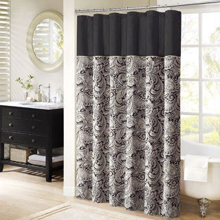 Madison Park Wellington Shower Curtain (Option: Black)