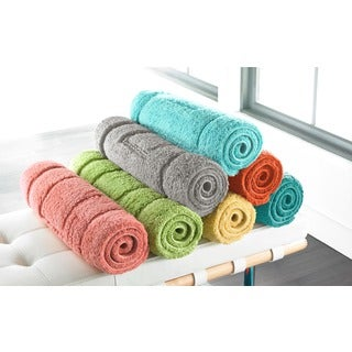 Luxurious Cotton Brights Collection 24 x 40-inch Bath Rug