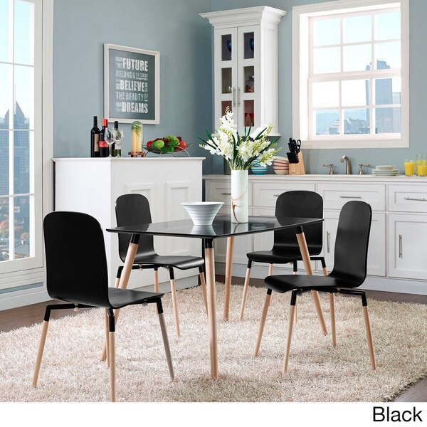 Shop Stack Wood Dining Chairs Set Of 4 Free Shipping