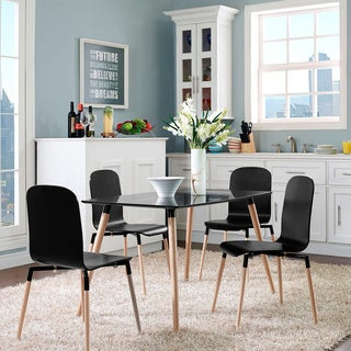 Stack Wood 5-piece Mid-century Style Dining Chairs and Table Set
