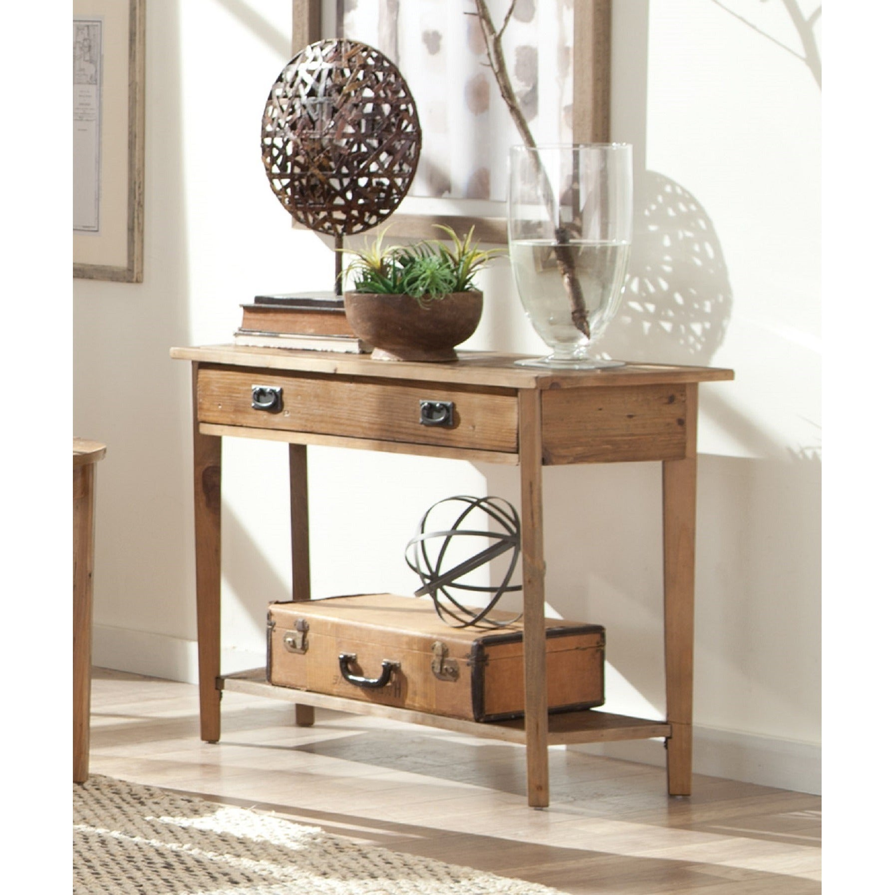 Shop Pine Canopy Pinnacles Reclaimed Wood Console Table