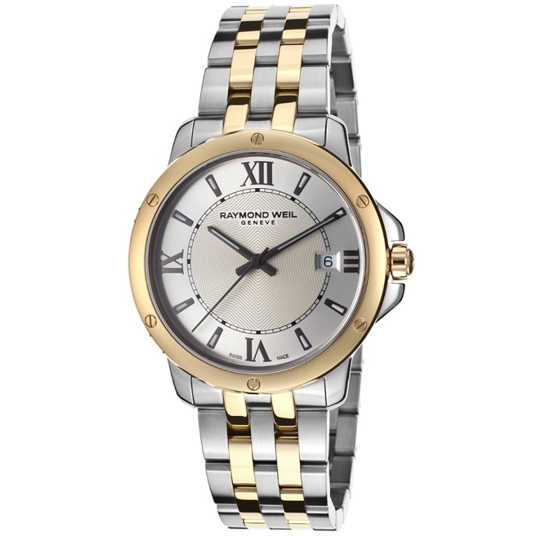 Raymond Weil Men's 'Tango' Two-tone Stainless Steel Watch (Raymond Weil Tango Silver Dial Mens Watch)