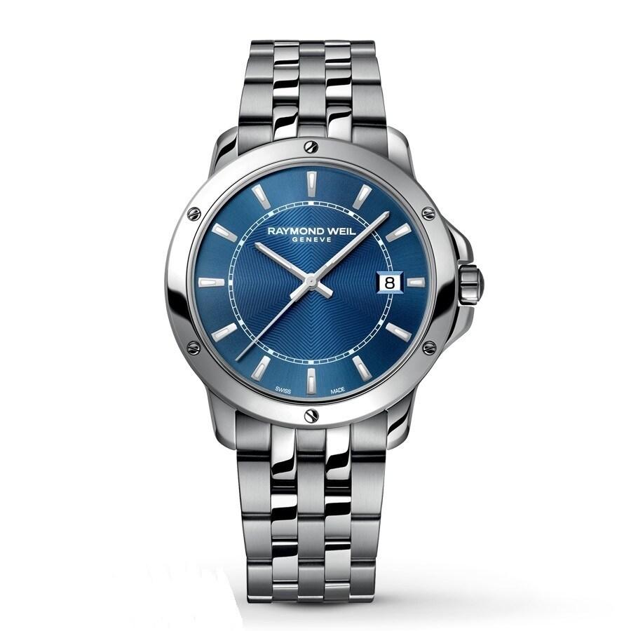 Raymond Weil Men's 'Tango' Blue Dial Stainless Steel Watch (Raymond Weil Tango Blue Dial Mens Watch)
