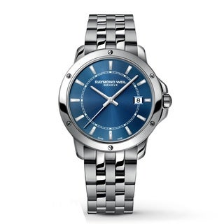 Raymond Weil Men's 'Tango' Blue Dial Stainless Steel Watch