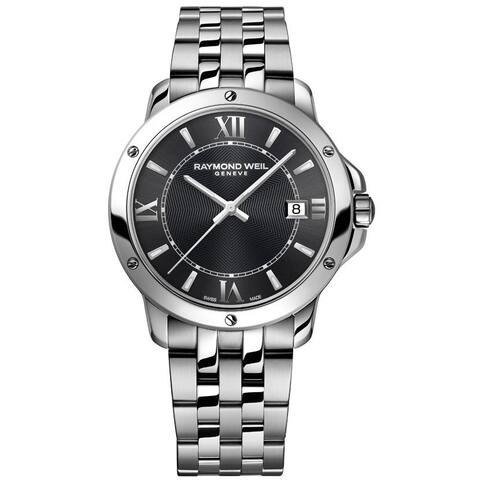 Raymond Weil Men's 'Tango' Grey Dial Stainless Steel Watch