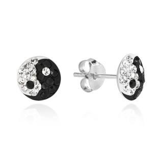 Handmade 7mm Yin Yang Balance Sparkle .925 Silver Stud Earrings (Thailand)|https://ak1.ostkcdn.com/images/products/8982953/7mm-Yin-Yang-Balance-Sparkle-.925-Silver-Stud-Earrings-Thailand-P16189428.jpg?impolicy=medium