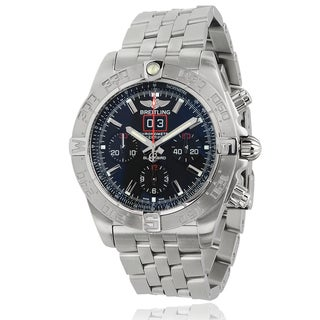 mens designer watches breitling 9u2o  Breitling Men's A4436010/BB71 Stainless Steel Blackbird Chronograph  Automatic Watch