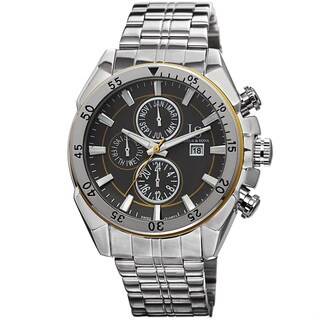 Joshua & Sons Men's Swiss Quartz Multifunction Stainless Steel Bracelet Watch with FREE GIFT