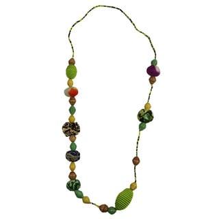 Lime Light Beaded Pullover Necklace (Rwanda)