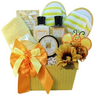 Queen Bee Honey Spa Bath and Body Gift Basket