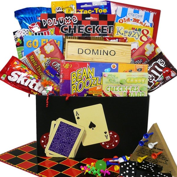 Discontinued~ Fun and Games Snacking Gift Box Care Package