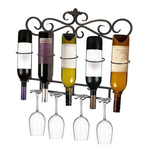 Dark Champagne Metal Wine Rack