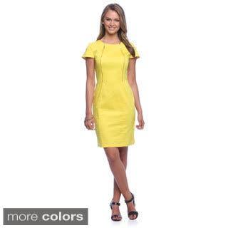 Amelia Women's Cotton Satin Front-zip Dress|https://ak1.ostkcdn.com/images/products/8983682/Amelia-Womens-Cotton-Satin-Front-zip-Dress-P16190039.jpg?impolicy=medium