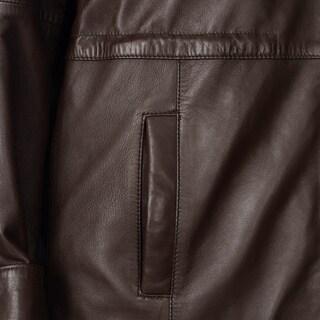 Whetblu Women's Faux Fur Trimmed Hooded Leather Jacket