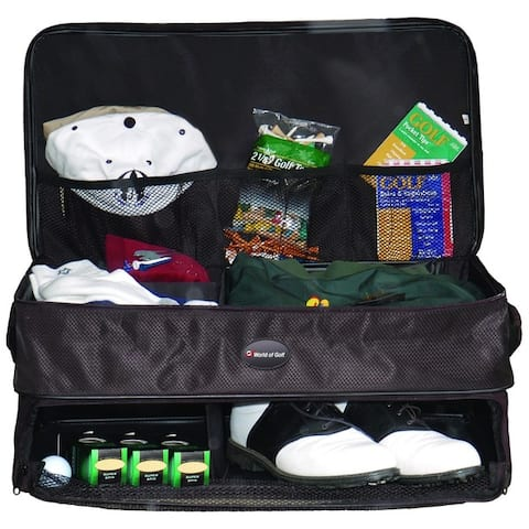 Black Nylon Double Layer Golf Supply Trunk Organizer