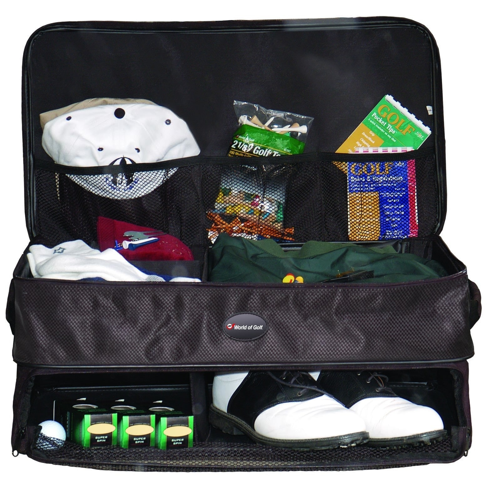 JEF World Of Golf Double Layer Golf Supply Trunk Organize...