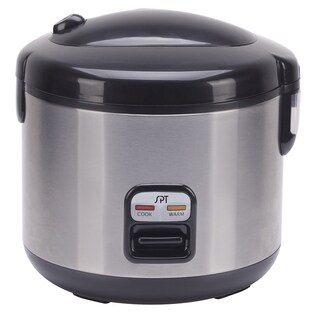 SPT Stainless Steel 10-cup Rice Cooker