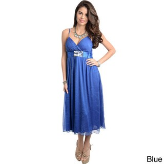 Stanzino Women's Empire Cut Sweetheart Midi Dress