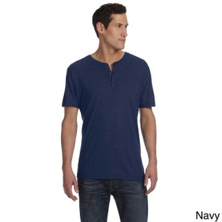 Bella Men's Triblend Short Sleeve Henley Shirt (More options available)