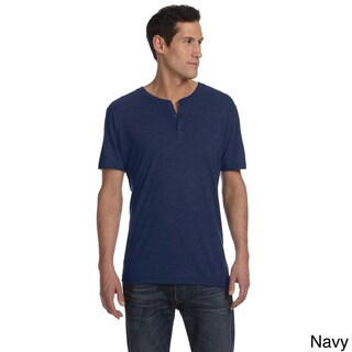 Bella Men's Triblend Short Sleeve Henley Shirt (More options available)
