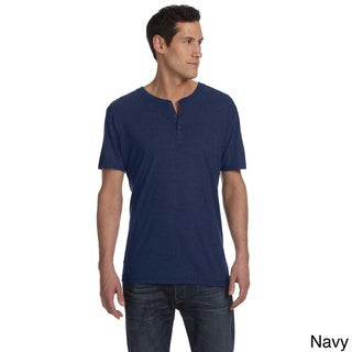 Bella Men's Triblend Short Sleeve Henley Shirt