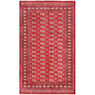 Herat Oriental Pakistani Hand-knotted Bokhara Red/ Ivory Wool Rug (5'1 x 8'5)