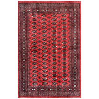 Handmade Herat Oriental Pakistani Bokhara Red/ Ivory (Pakistan) - 5'2 x 7'9