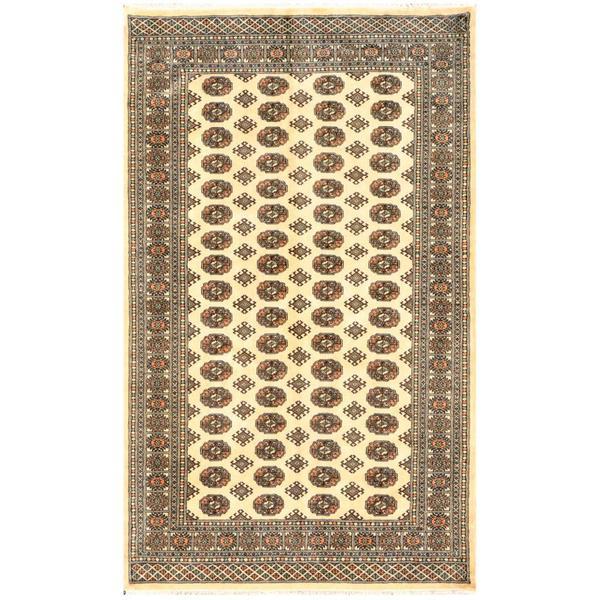 Herat Oriental Pakistani Hand-knotted Bokhara Wool Rug (5' x 8'3) - 5' x 8'3
