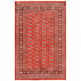 Handmade Herat Oriental Pakistani Bokhara Wool Rug (Pakistan) - 5'2 x 7'11
