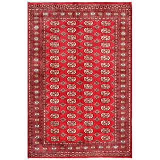 Herat Oriental Pakistani Hand-knotted Bokhara Red/ Ivory Wool Rug (5'2 x 7'9)