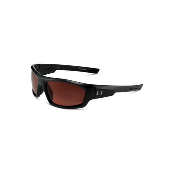 Under Armour Power Storm Satin Black Performance Sunglasses