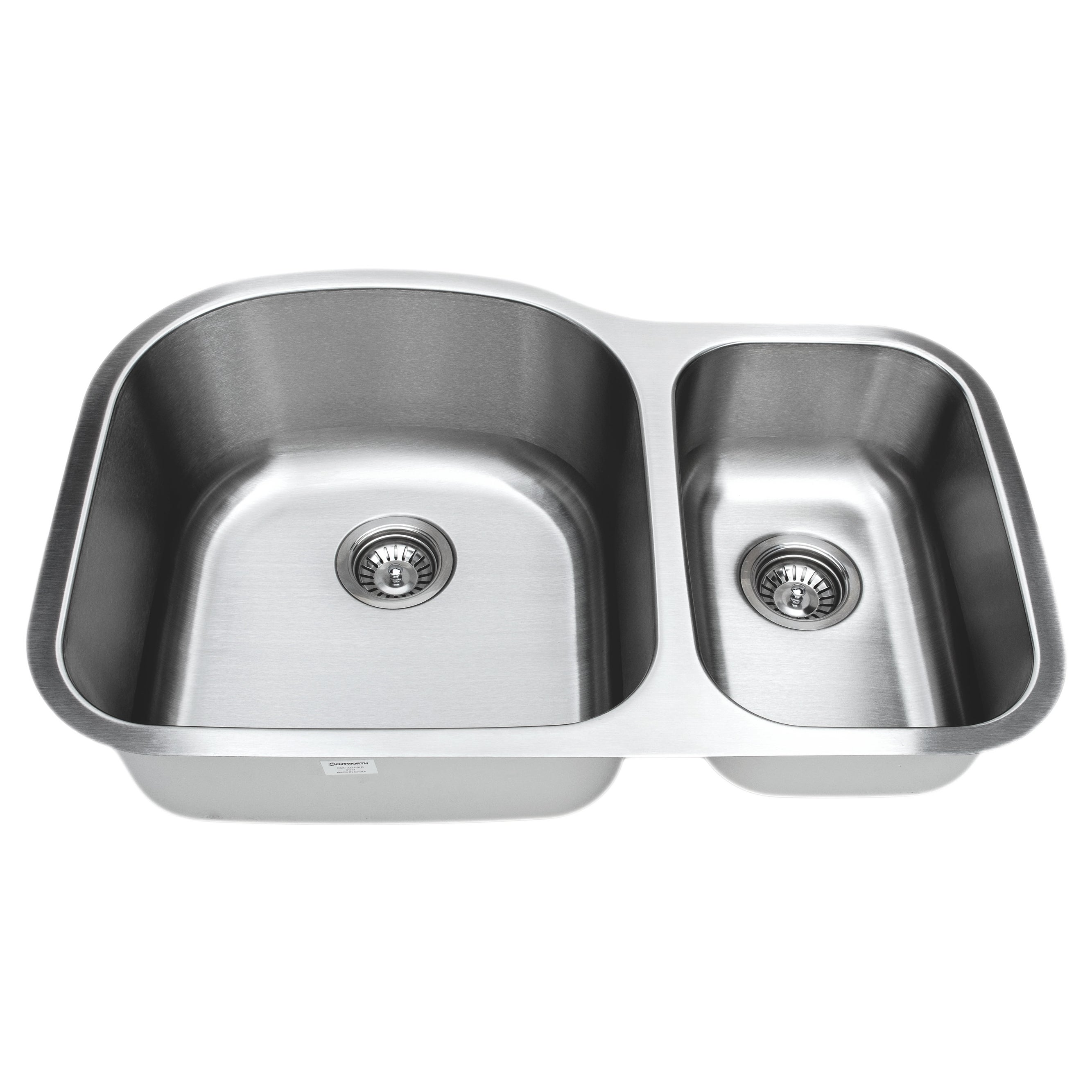 Wells 16-gauge 70/30 Double Bowl Undermount Stainless Ste...