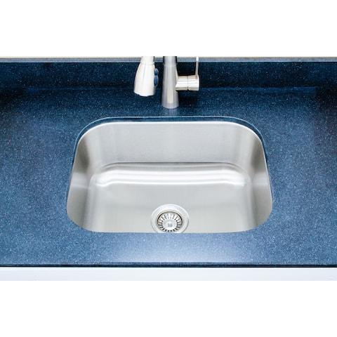 Wells Sinkware Craftsmen Series 23-inch 16-gauge Undermount Single Bowl Stainless Steel Kitchen Sink