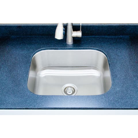 Wells Sinkware Craftsmen Series 23-inch 16-gauge Undermount Single Bowl Stainless Steel Kitchen Sink
