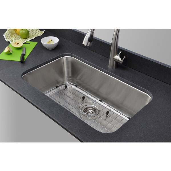 Wells sinkware 30 inch undermount single bowl 18 gauge - 18 inch kitchen sink ...