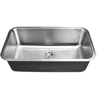 Wells Sinkware 30 Inch Undermount Single Bowl 18 Gauge Stainless Steel  Kitchen Sink