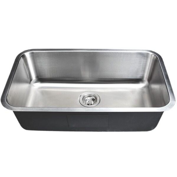 Wells Sinkware Craftsmen Series 30-inch 18-gauge Undermount Single Bowl Stainless Steel Kitchen Sink. Opens flyout.