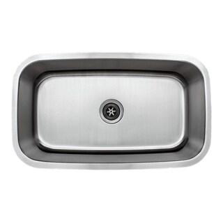 Wells Sinkware Craftsmen Series 31-inch 18-gauge Undermount Single Bowl Stainless Steel Kitchen Sink
