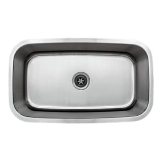 Wells Sinkware 18-gauge 31-inch Single Bowl Undermount Stainless Steel Kitchen Sink