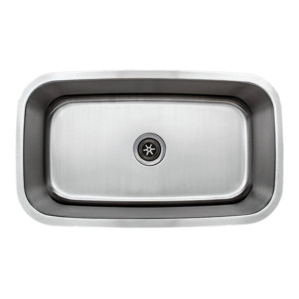 Wells Sinkware Craftsmen Series 31-inch 18-gauge Undermount Single Bowl Stainless Steel Kitchen Sink. Opens flyout.