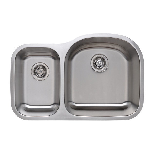 Wells Sinkware 18 Gauge 30 70 Double Bowl Undermount Stainless Steel Kitchen Sink Free Shipping Today 16190257